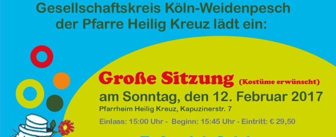 Sitzung und Kostümball des Gesellschaftskreises Hl. Kreuz