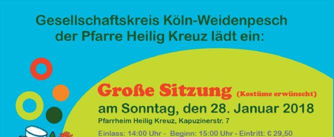 Sitzung und Kostümball des Gesellschaftskreises Hl. Kreuz | 28.01.18