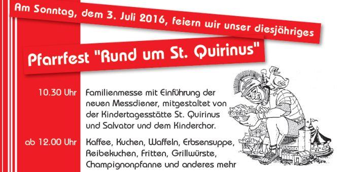 Pfarrfest in St. Quirinus