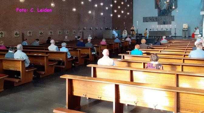1. öffentliche Hl. Messe in Zeiten der Corona-Pandemie