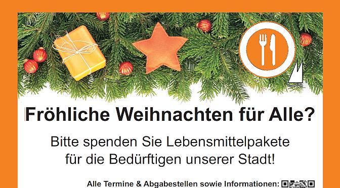 Fröhliche Weihnachten für alle?   Abgabe am 7.12.2016 im Gemeindezentrum Erlöserkirche, Weidenpesch